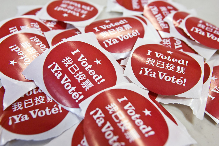 California Voters Participate In The State's Pivotal Primary