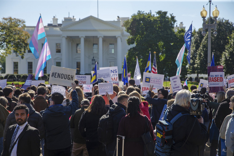 Demonstrators Protest Federal Plan Targeting Transgender People