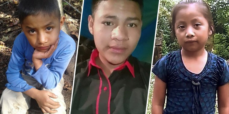 From left, Felipe Gomez Alonzo, Carlos Gregorio Hernandez Vasquez and Jakelin Caal Maquin are three of the children who have died in the custody of U.S. Customs and Border Protection.