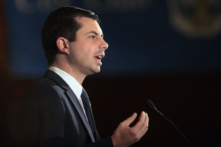 Image: Democratic Presidential Candidate Pete Buttigieg Speaks At City Club of Chicago Luncheon