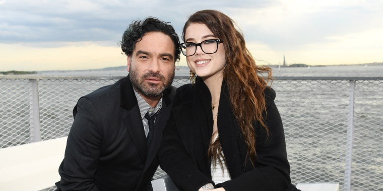 Johnny Galecki's gender reveal party