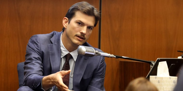 Ashton Kutcher at trial