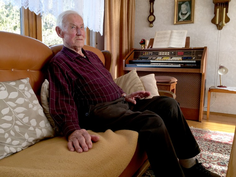 Paul Golz, former Wehrmacht soldier in Normandy during allied invasion, at his home in Koenigswinter, Germany on Feb. 6, 2019.