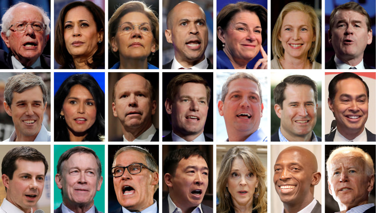 Image: 2020 Democratic presidential candidates in a combination of 21 file photos
