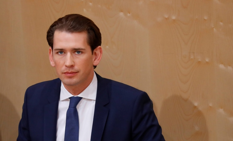 Image: Austrian Chancellor Sebastian Kurz attends a session of the Parliament in Vienna