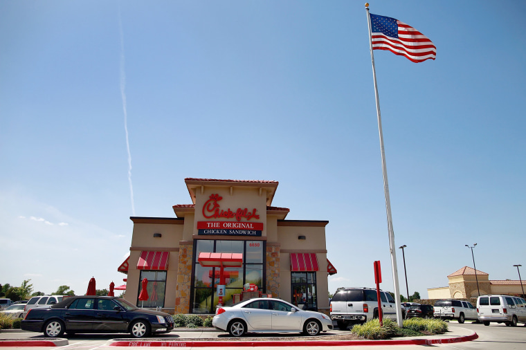 Image: Supporters Flock To Restaurants On Chick-Fil-A Appreciation Day
