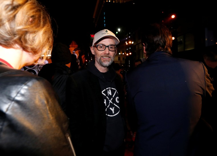 """Image: Musician Moby arrives at the world premiere of the film """"Rogue One: A Star Wars Story"""" in Hollywood"""