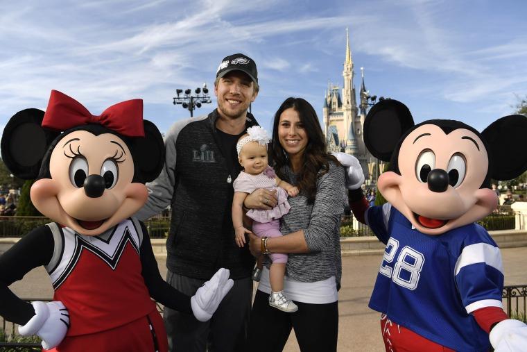Image: Nick Foles of The Philadelphia Eagles Celebrates at Walt Disney World