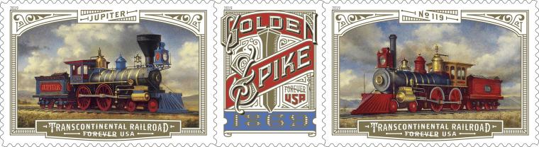 Image: Golden Spike Stamp