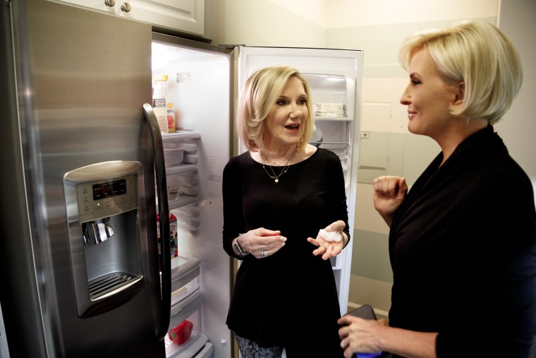 NBC News' health editor, Dr. Madelyn Fernstrom, left, chats with Know Your Value founder Mika Brzezinski, right.
