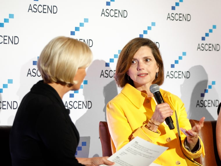 Beth Comstock, former vice chair of General Electric, speaks at the Ascend Summit in New York City earlier this month.