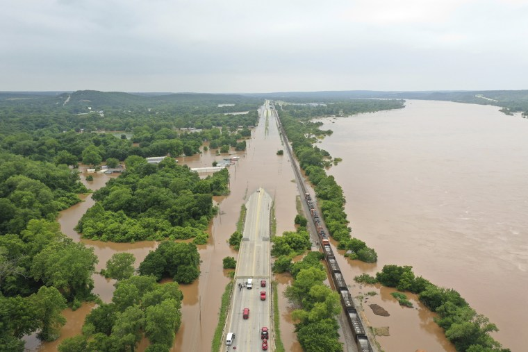 Image: Arkansas River flooding