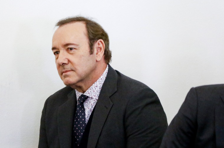 Image: Actor Kevin Spacey attends his arraignment for sexual assault charges at Nantucket District Court in Nantucket