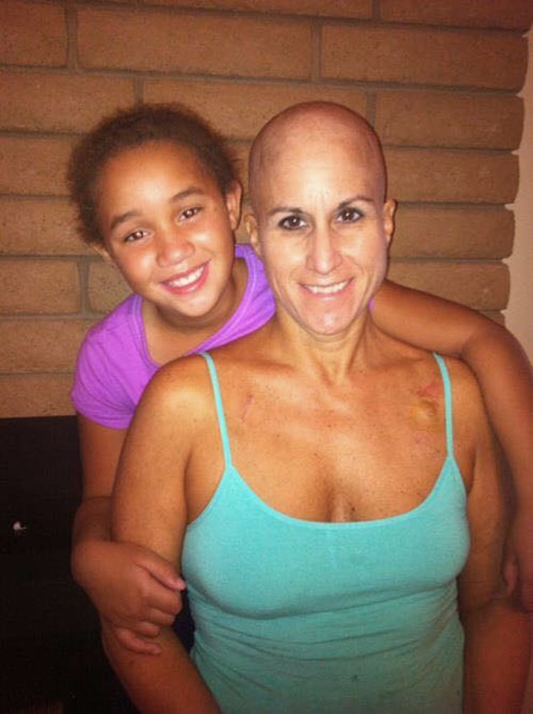 Bernadette Martinho-Brewer, pictured here with her daughter, was diagnosed with advanced breast cancer at age 45.