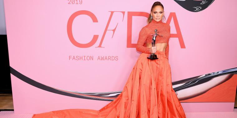 J Lo's crop top dress