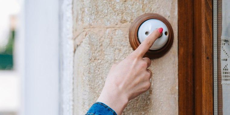 ringing a doorbell