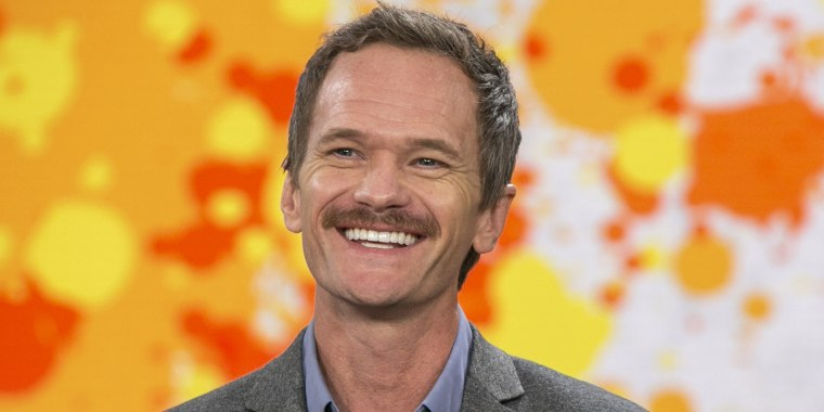 Neil Patrick Harris showed off his new mustache during a visit to TODAY Thursday.