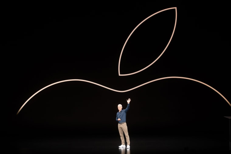 Image: Apple CEO Tim Cook at an event in Cupertino, California, on Sept. 12, 2018.