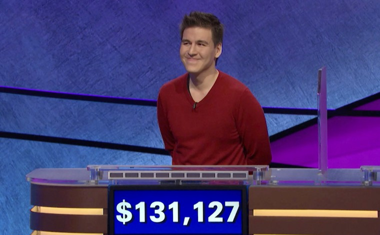 """Image: James Holzhauer, a professional sports gambler from Las Vegas, broke the \""""Jeopardy!\"""" winnings record on April 17, 2019."""