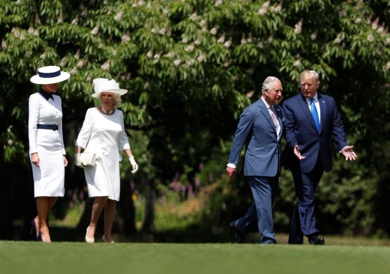 Image: U.S. President Donald Trump visits Britain