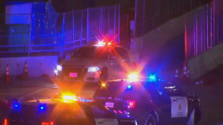 Image: A shooting involving officers at the border San Ysidoro crossing near San Diego, after a pickup truck entering the U.S. failed to stop