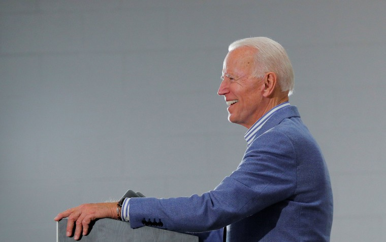 Image: Democratic 2020 U.S. presidential candidate Biden speaks in Concord