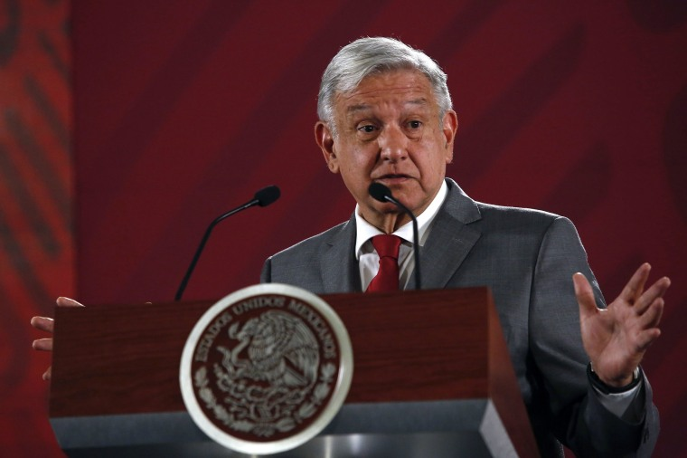 Image: Mexico's President Andres Manuel Lopez Obrador says Mexico will not respond to U.S. President Donald Trump's threat of coercive tariffs with desperation