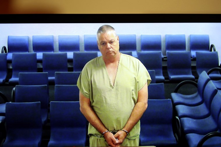 Image: Former school resource officer Scot Peterson appears in court via television feed in Fort Lauderdale, Florida, on June 5, 2019.