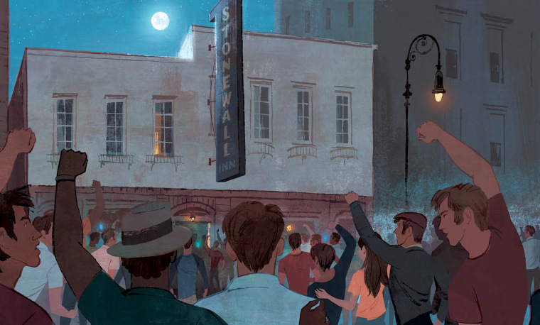 "Image: ""Stonewall: A Building. An Uprising. A Revolution,"" written by Rob Sanders and illustrated by Jamey Christoph."