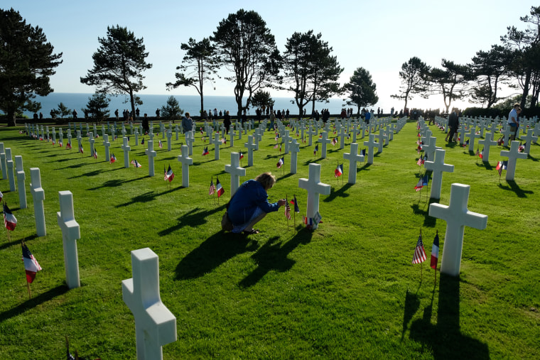 Image: Normandy American Cemetery Holds D-Day 75th Anniversary Ceremony