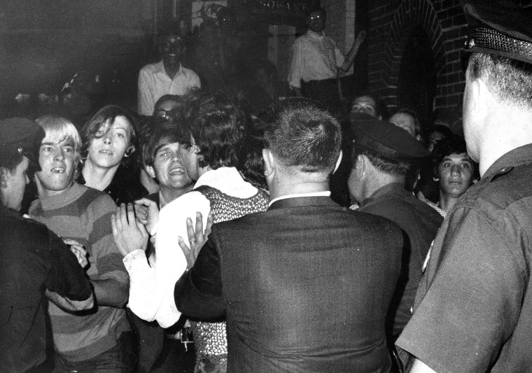 Image: Police conduct a raid at the Stonewall Inn in New York on June 28, 1969.