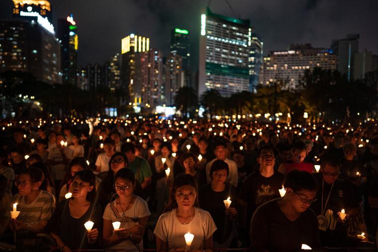 Image: Hong Kong Marks 30 Years Since The Tiananmen Massacre