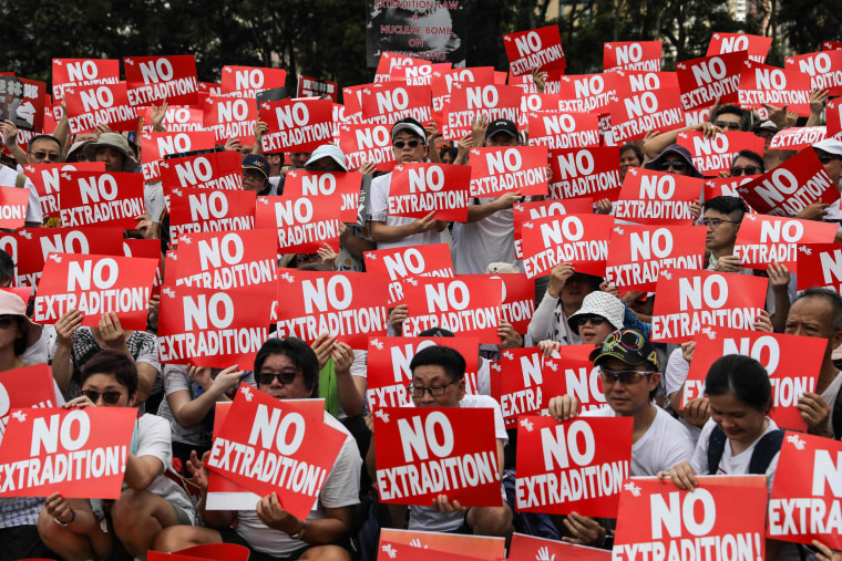 Image result for Hong Kong plunged into political crisis after huge protest against extradition law