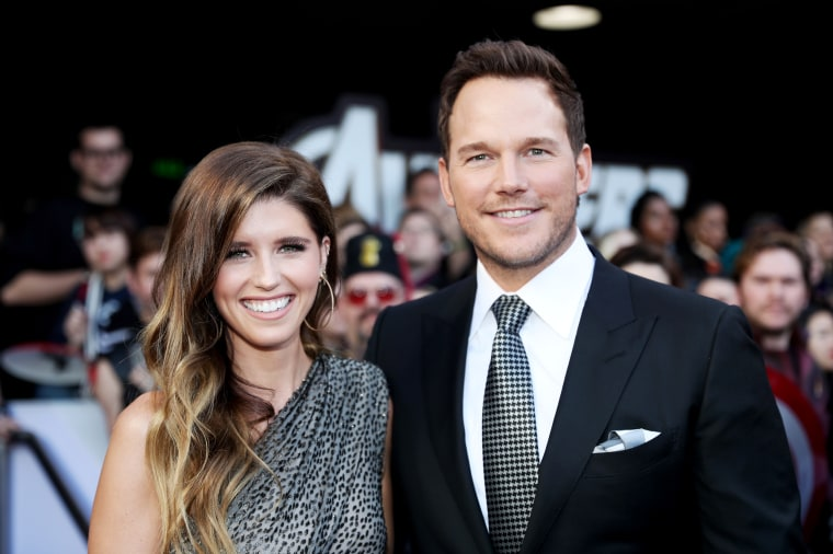 "Image: Katherine Schwarzenegger and Chris Pratt attend the premier of ""Avengers: Endgame"" in Los Angeles on April 23, 2019."