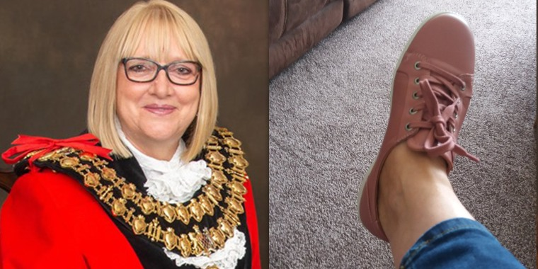 This U.K. mayor with a prosthetic leg was criticized for her flat shoes.