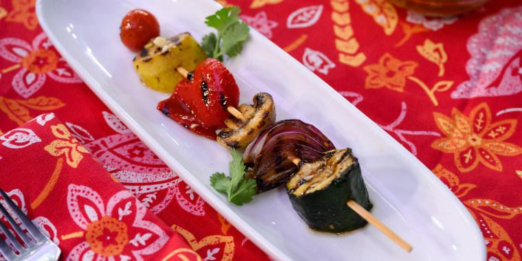 Siri Daly's Jerk Chicken + Grilled Veggies + Carson's Rum Punch