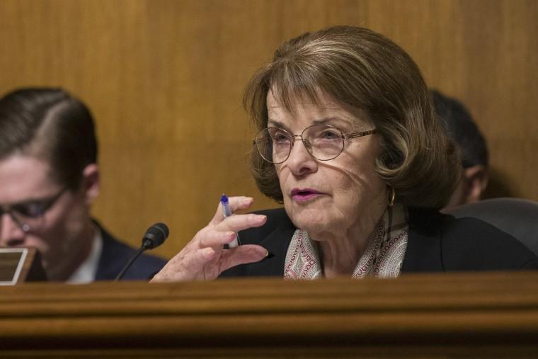 feinstein says she s stepping down as top democrat on senate judiciary committee nbc news