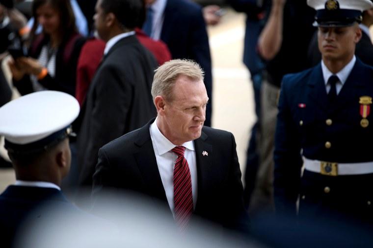 Image: Acting Secretary of Defense Patrick Shanahan before a meeting at the Pentagon on May 9, 2019.