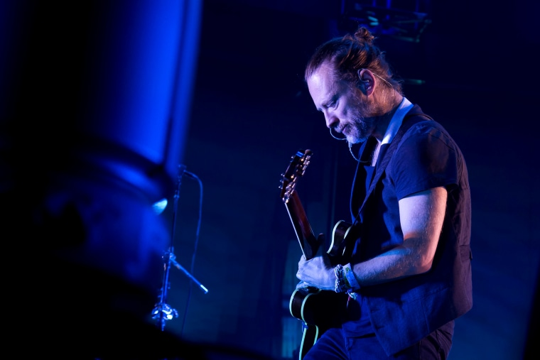 Image: Thom Yorke from the band Radiohead performs at Madison Square Garden in New York in 2016.