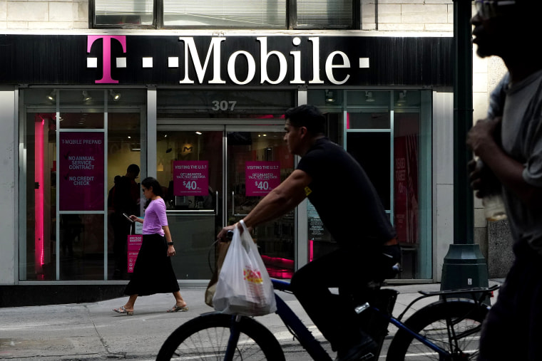 Image: A T-Mobile store is pictured in the Manhattan borough of New York