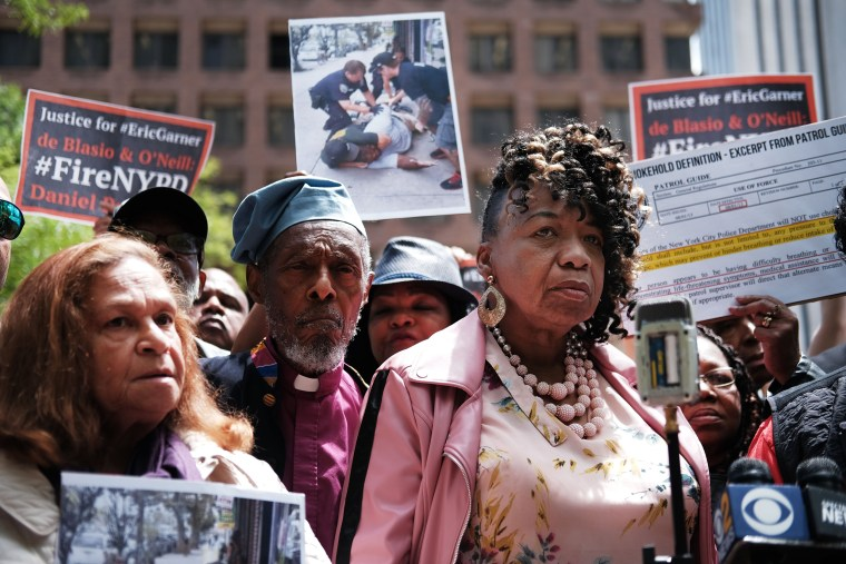Image: Mother Of Eric Garner Addresses The Media During Trial Of NYPD Officer Pantaleo