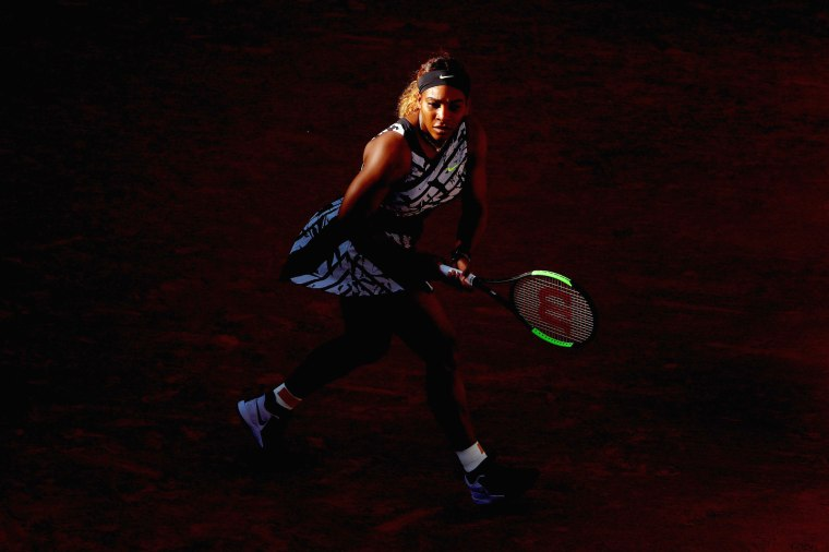Image: Serena Williams during the French Open in Paris on June 1, 2019.