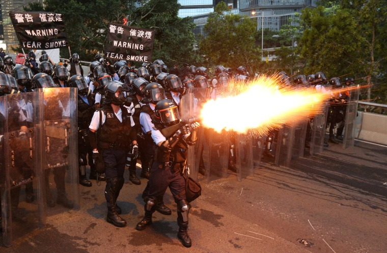 Image: Protesters demonstrate against a proposed extradition bill in Hong Kong