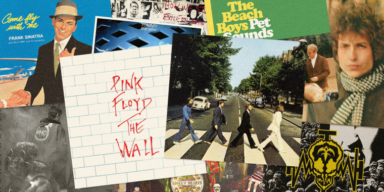 Image: From Frank Sinatra to The Beatles, albums have been musicians' preferred way of making artistic statements.