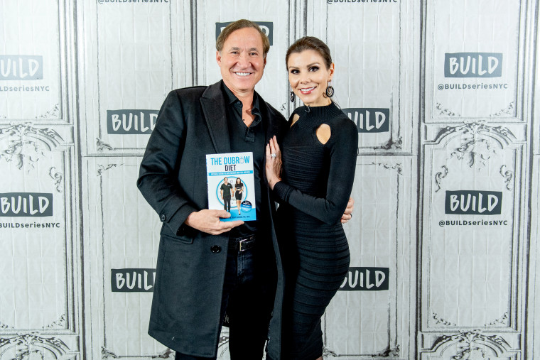 "Image: Terry and Heather Dubrow with their book, ""The Dubrow Diet,"" in New York on Jan. 21, 2019."