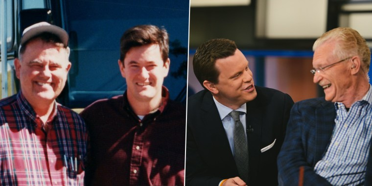 From left to right: George Scarborough, Joe Scarborough, Willie Geist and Bill Geist.