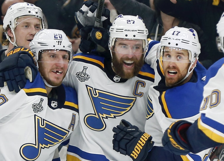 b46e80a89 St. Louis Blues beat Boston Bruins, 4-1, to win first Stanley Cup