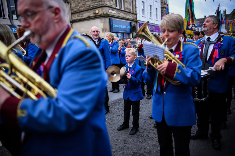 Image: Scottish Borders Tradition Of Common Riding Takes Place In Selkirk