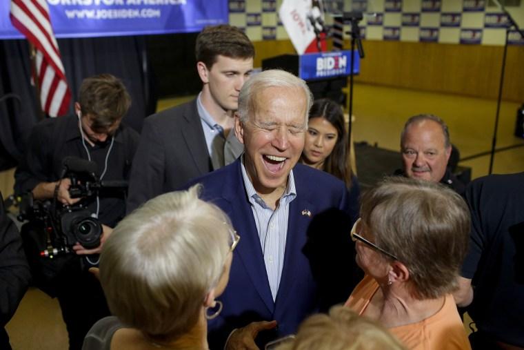 Image: ***BESTPIX*** Democratic Presidential Candidate Former Vice President Joe Biden Holds Campaign Event In Davenport, Iowa
