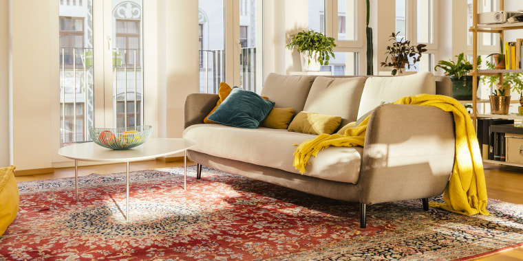 Living room area with Persian rug